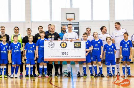 Наша команда 2009 г.р приняла участие в Благотворительном матче.